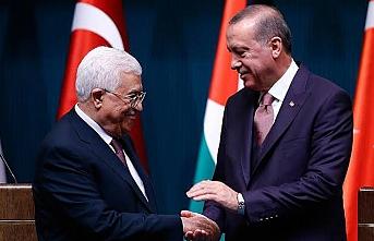 Erdoğan Filistin Devlet Başkanı ile görüştü