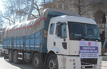 İdlib'e 22 ton kuru soğan gönderildi