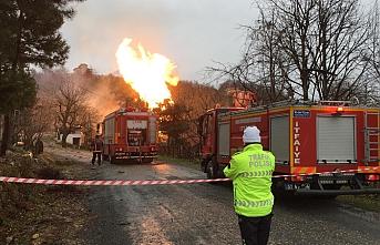 Ordu Ünye'de doğal gaz borusu patladı