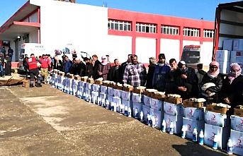 Türk Kızılay'ından Suriyeli Hristiyan ailelere gıda ve temizlik malzemesi yardımı