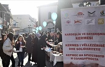 Türkiye'deki depremzedeler için Üsküp'te kermes düzenlendi