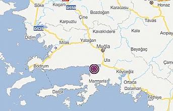 Akdeniz'deki 4,4 büyüklüğünde deprem Marmaris'i etkilemedi