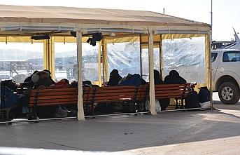 Ayvalık'ta 43 kaçak göçmen yakalandı