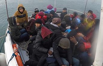 Çanakkale'de 38 göçmen yakalandı