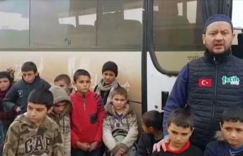 Esed rejiminin yetimhanelerini bombaladığı çocuklara Fetih-Der sahip çıktı