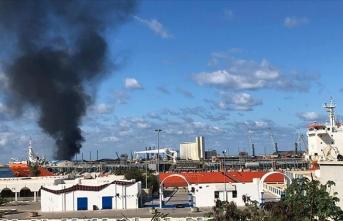 Hafter milislerinin saldırısı sonucu Trablus Limanı'nda büyük hasar oluştu