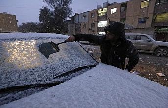 Iraklılar karı gördü