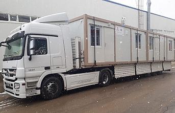 Karmod, Elazığ'a deprem konteyner evleri gönderdi