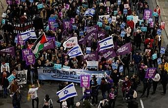 Sözde barış planı İsrail'de de protesto edildi