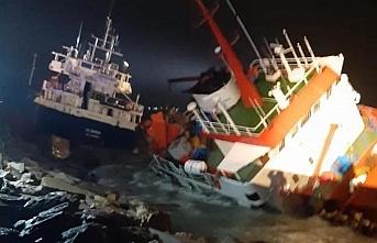 Tuzla açıklarındaki gemi kazasında tüm mürettebat kurtarıldı