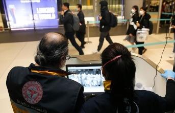 Uzak Doğu ülkelerinden gelen yolcular termal kameralarla kontrol edildi
