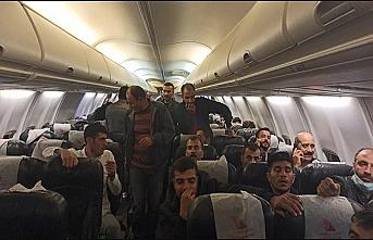 Bağdat'tan korsan uçuş yapan uçaktakiler karantinaya alındı