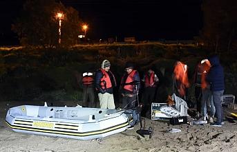Bodrum sahilinde sığınmacıların tehlikeli yolculuğu