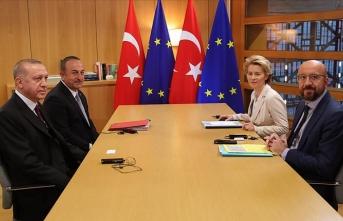Cumhurbaşkanı Erdoğan, AB liderleriyle görüştü