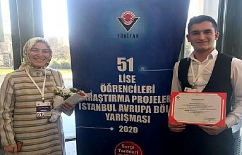 Enderun öğrencisi, TÜBİTAK yarışmasında birinci oldu