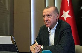 Erdoğan, Cumhurbaşkanlığı Kabinesi ile video konferansla görüştü