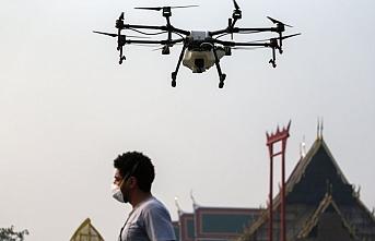 Çin'de koronavirüse karşı drone ile mücadele başladı