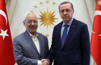 Cumhurbaşkanı Erdoğan, Tunus Meclis Başkanı Gannuşi ile görüştü