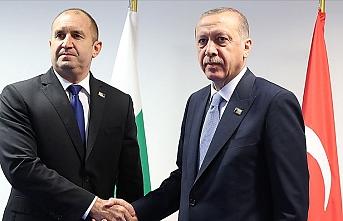 Cumhurbaşkanı Erdoğan ile Bulgaristan Cumhurbaşkanı Radev ile görüştü