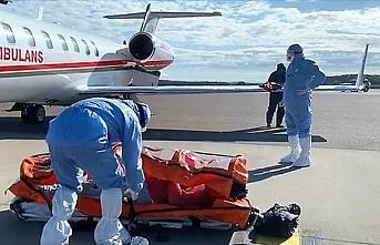 İsveç'teki Türk hasta ambulans uçakla Türkiye'ye getiriliyor