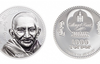 Moğolistan Mahatma Gandhi'nin anısına altın ve gümüş sikkeler çıkardı