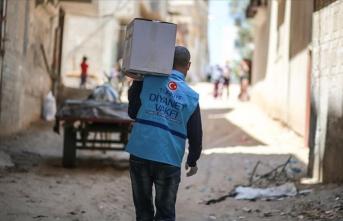 Türkiye Diyanet Vakfı'ndan Gazze'de yoksul ailelere gıda yardımı