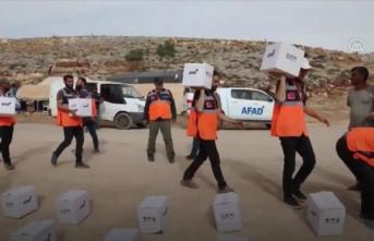 AFAD'dan İdlib'deki ihtiyaç sahiplerine gıda yardımı