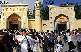 Bir kültürel soykırım örneği: Kaşgar'ın Heytgâh Camii'nin motifleri söküldü