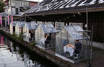 Hollanda'da salgın sonrası kafesli restoran trendi