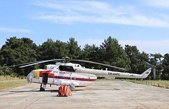 Orman yangını mevsimine hazırlık..Muğla'nın ilk yangın helikopteri Marmaris'e konuşlandırıldı