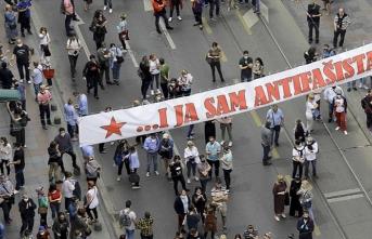 Saraybosna'daki 'Bleiburg' ayini, faşizm karşıtlarınca protesto edildi