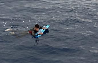 Sörf tahtası da işe yaramadı