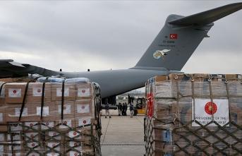 Tıbbi yardım malzemesi taşıyan Türk uçağı Çad'a indi