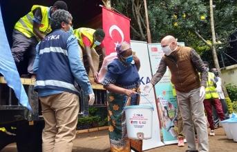 TİKA Kenya'da 1500 aileye gıda ve hijyen paketi ulaştırıyor
