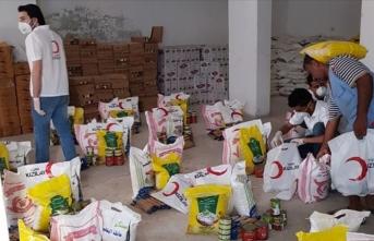 Türk Kızılay, Ramazan ayı yardımları kapsamında Yemen'de 500 gıda kolisi dağıttı