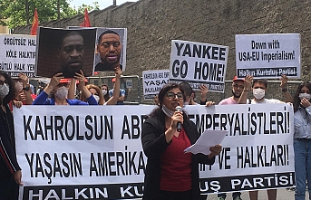 ABD'nin İstanbul Başkonsolosluğu önünde George Floyd protestosu