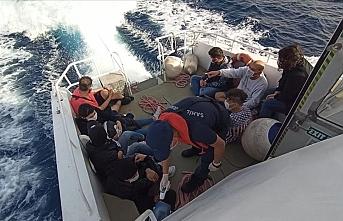 Bodrum'da Türk kara sularına geri itilen 10 sığınmacı kurtarıldı