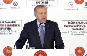 Cumhurbaşkanı Erdoğan: Bugün ufka umutla bakıyorsak son 18 yıldaki gayretlerimizin sayesindedir