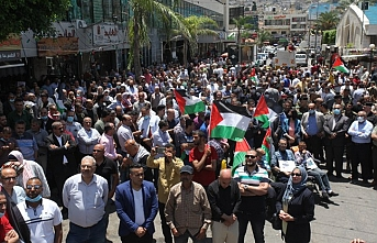"""Filistinlilerden Batı Şeria'da """"ilhak"""" karşıtı gösteri"""