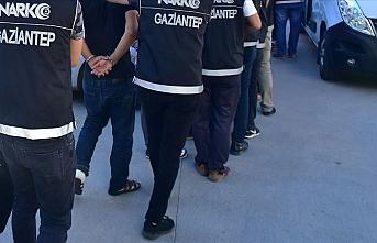 Gaziantep'te suç örgütü ve uyuşturucu operasyonu: 62 gözaltı kararı