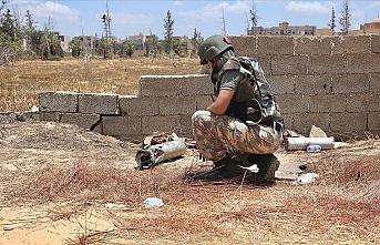 Hafter milislerinin ve paralı askerlerin tuzakladığı patlayıcı ve mayınlar TSK tarafından temizleniyor
