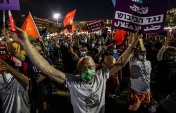 İsrail'in 'ilhak' planı Tel Aviv'de protesto edildi