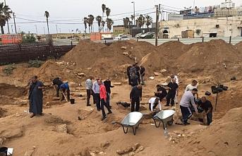 İsrail'in Yafa'da Müslüman mezarlığını yıkması protesto edildi