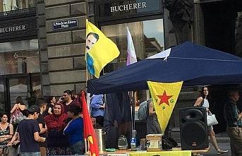 PKK sempatizanlarının düzenlediği gösteriye Türklerden tepki