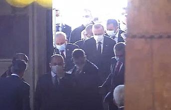 Cumhurbaşkanı Erdoğan, Ayasofya-i Kebir Cami-i Şerifi'ne geldi
