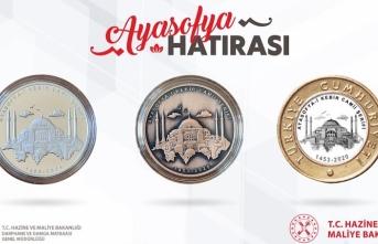 Darphanede Ayasofya Camii özel parası basıldı