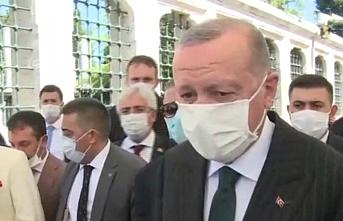 Erdoğan ve Bahçeli Fatih Sultan Mehmet Han'ın türbesinde