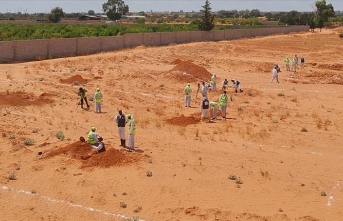 Libya'da Hafter'den kurtarılan Terhune'deki toplu mezarlardan 5 ceset daha çıkarıldı