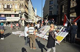 Libya'ya gözdağı veren Sisi Avusturya'da protesto edildi