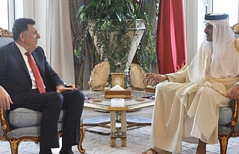 Serrac ile Katar Dışişleri Bakanı İstanbul'da bir araya geldi